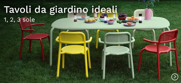 Tavoli da giardino ideali: 1, 2, 3, sole